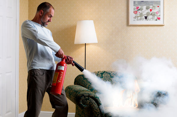 Home Safety Tip - Do you have a fire extinguisher?